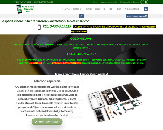 GSM Tablet Reparatie Best